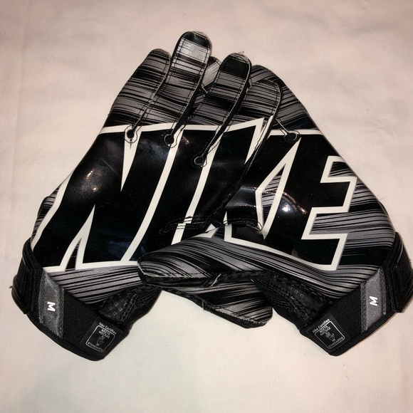 Nike Logo Afult Receiver Football Gloves Size M